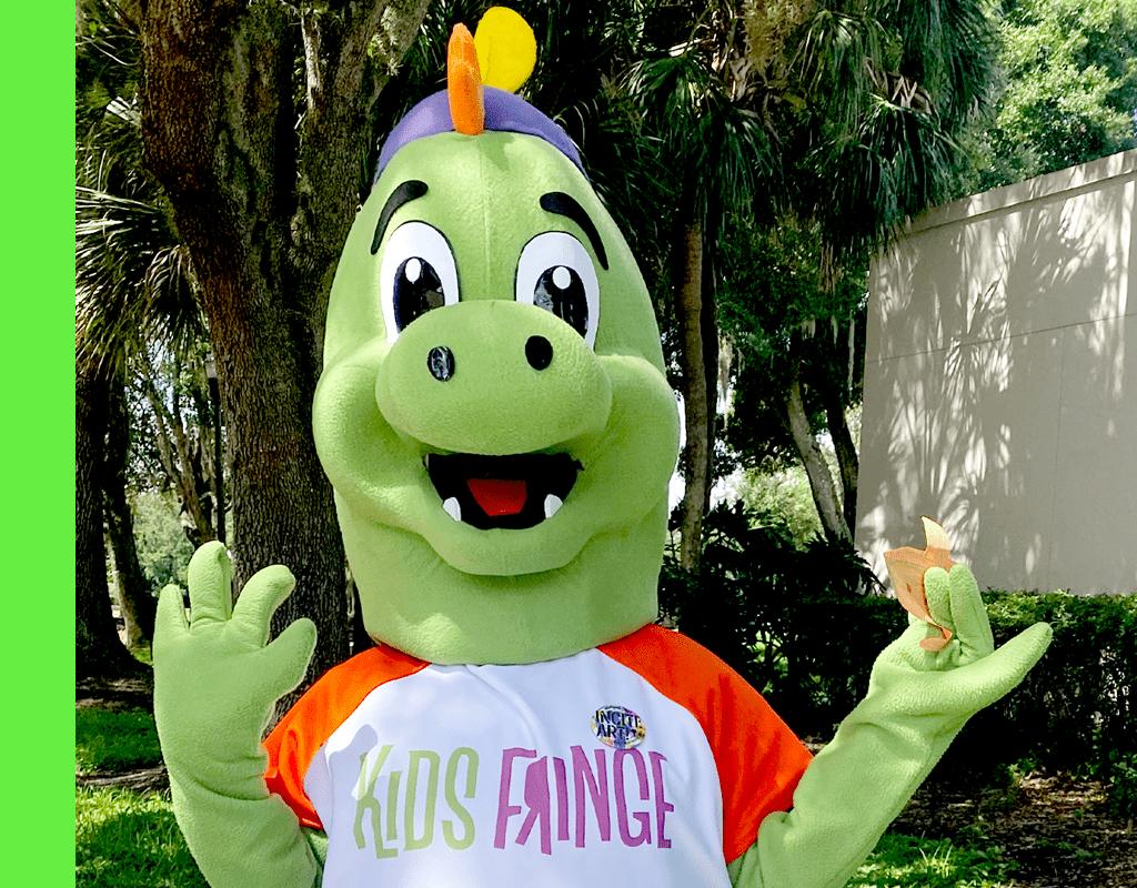 Photo of Fringe Mascot, Fringezilla