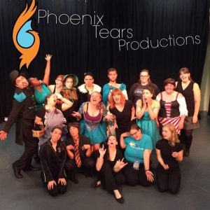 Photo of a group of performers posing for a photo.