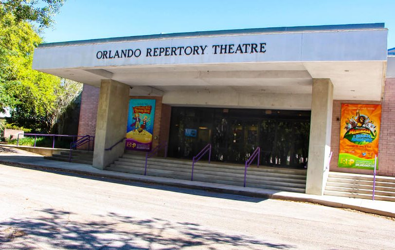 Photo of the exterior of the Orlando Repertory Theatre