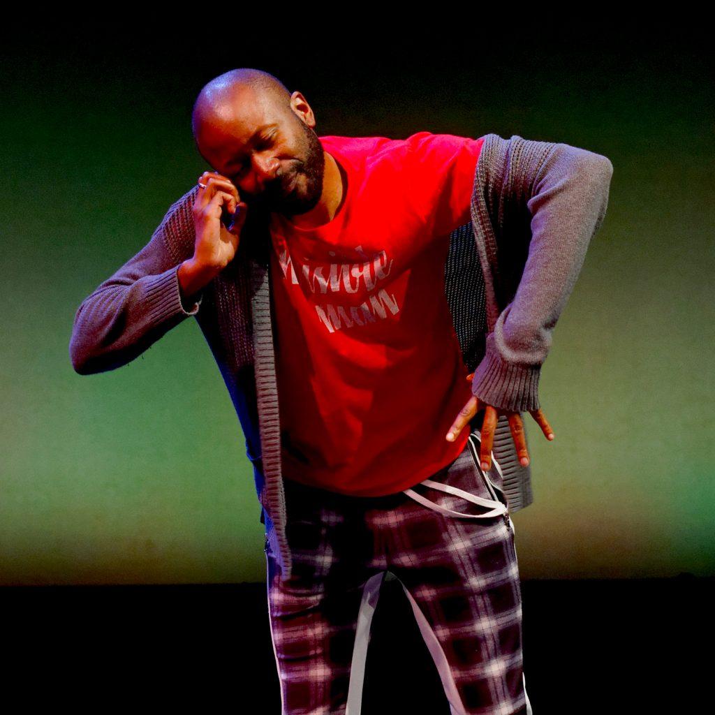 Photo of Paris Crayton performing on stage.