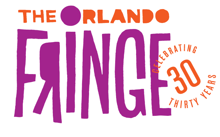 "Text reads, ""THE ORLANDO FRINGE CELEBRATING THIRTY YEARS."""