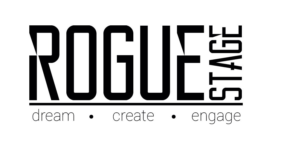 Logo of Rogue Stage. Dream Create Engage