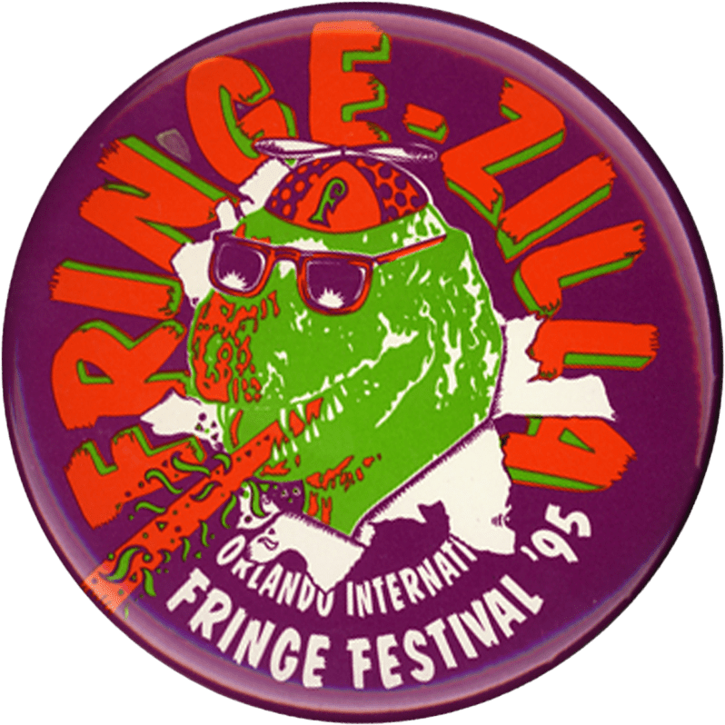 Button for the 4th festival featuring Fringezilla.