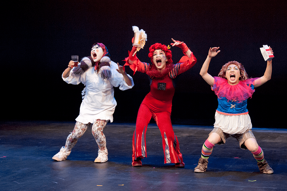 3 performers on stage at Orlando Fringe
