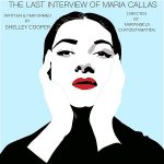 "Woman with her hands on her face. Text says, ""The last interview of Maria Callas"""