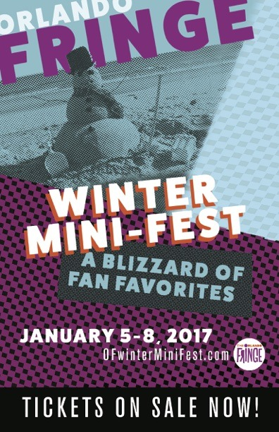 Poster for the first Winter Mini-Fest with a snowman made of sand.