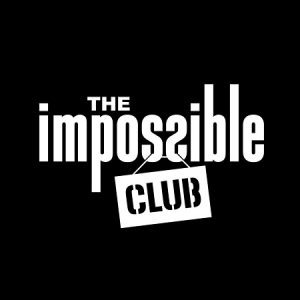 "White text reads, "" THE impossible CLUB."" The background of the graphic is black."