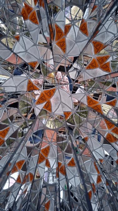 View through a kaleidoscope